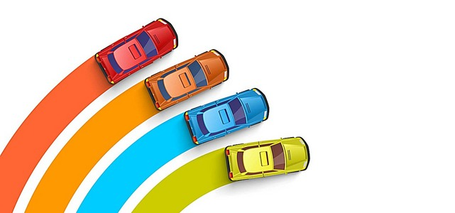 汽车线条说明背景