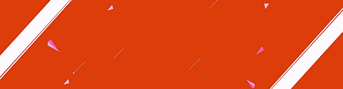 橘色扁平海报baneer