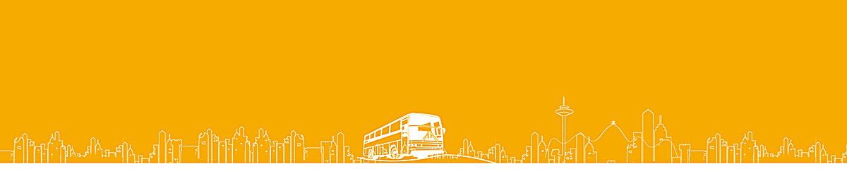 黄色公交车手绘背景图案