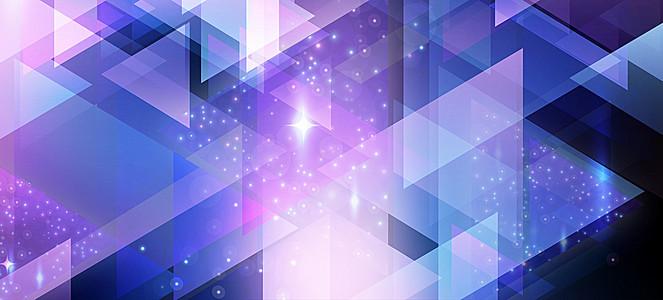 几何图形蓝色渐变海报背景