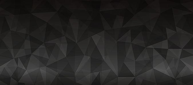多边形黑色渐变炫彩海报背景