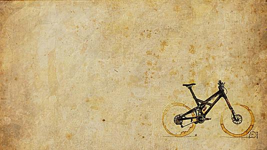 怀旧复古手绘单车校园社团背景素材