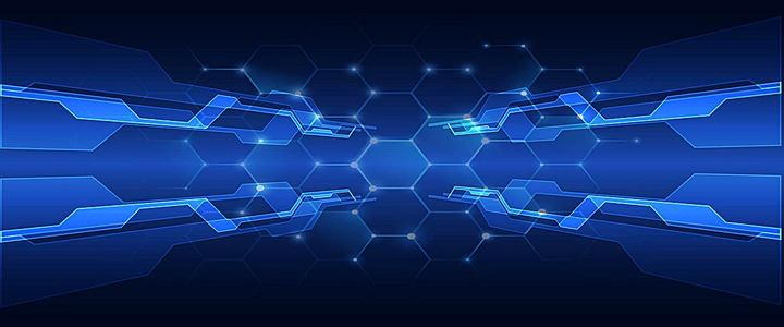 深蓝色科技科幻淘宝商务背景