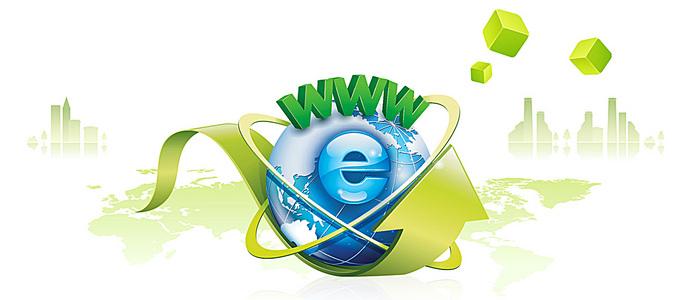 网络科技全球商务背景