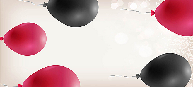写实气球侧向banner背景