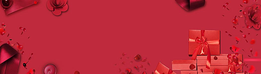 淘宝天猫情人节浪漫大气红色内衣海报背景