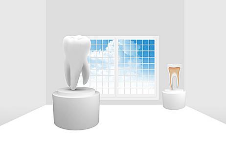 护牙课堂海报背景素材