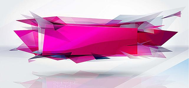 几何图形立体几何简约设计海报背景