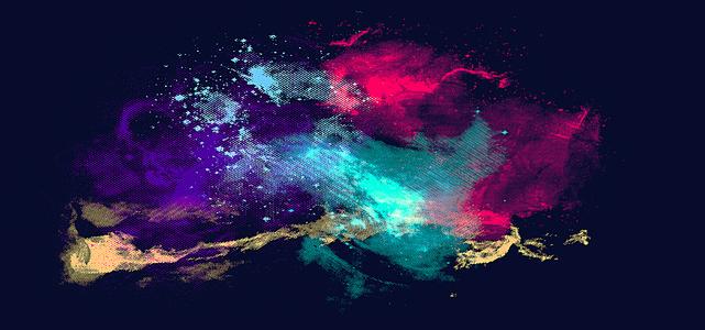 色彩混合光效简约设计海报背景