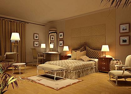 欧式卧室风格室内装潢效果背景素材