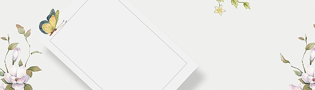 春季清新白色电商海报背景