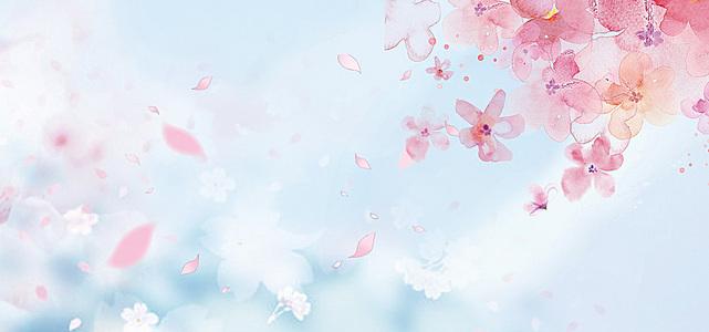 樱花节主题海报背景