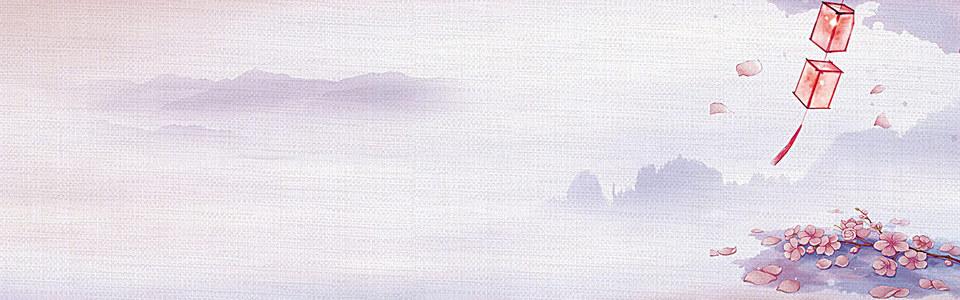 简约水墨山水中国风背景