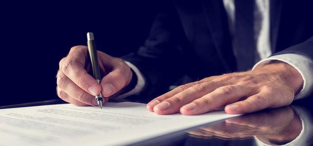 商务合作签字仪式背景