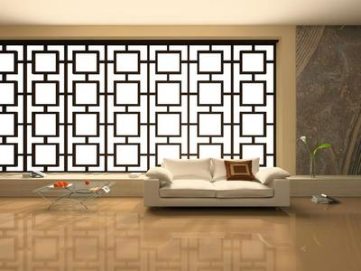 家居宽敞客厅装饰设计背景素材