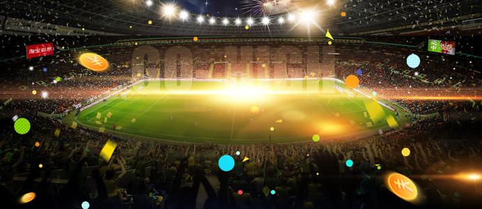 男神节足球世界杯狂欢绿色背景