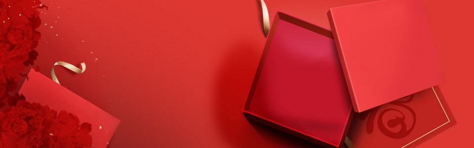 红色母亲节红色系列背景