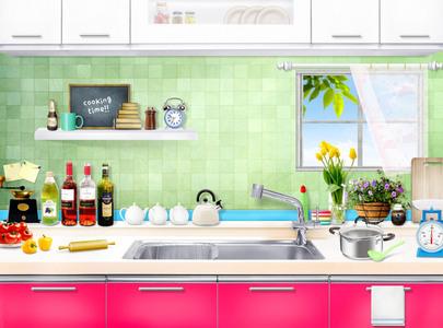 厨房一角海报背景素材