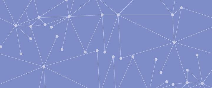 蓝色扁平化矢量点线背景