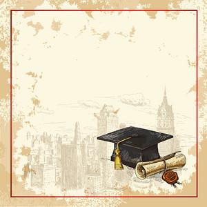 毕业季大学背景素材