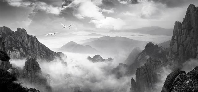 中国风山水大气背景图