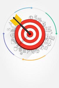 矢量扁平化创意箭靶商务背景