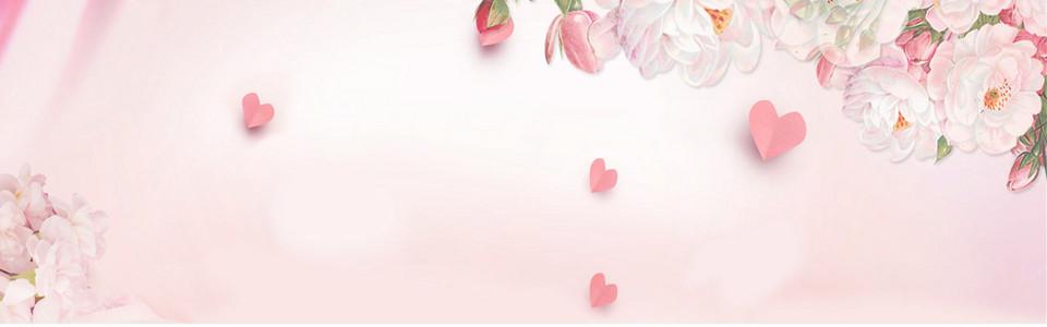 梦幻手绘花背景促销banner