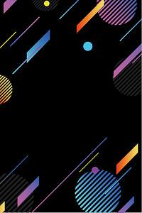 UI素材点线黑色矢量背景