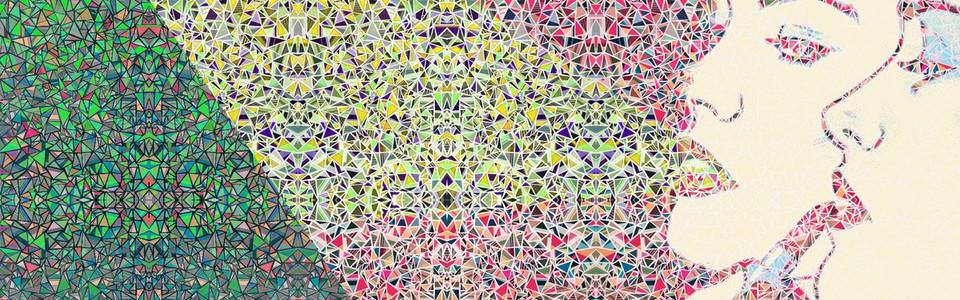 波普彩色几何碎片背景