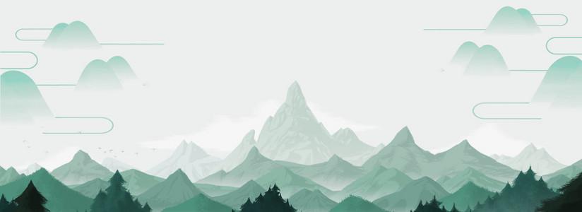 淡雅中国风山水风景背景