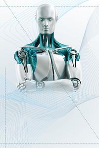 机器人人工智能数码产品海报背景素材