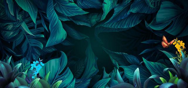 森林之魅促销海报背景