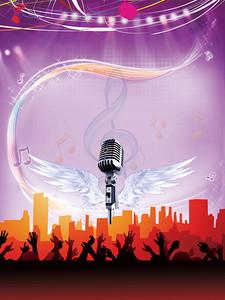合唱比赛海报背景素材