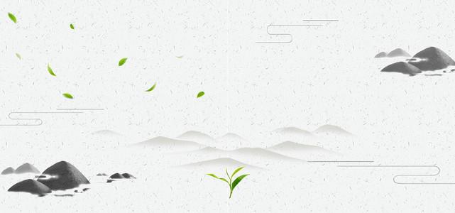 简约中国风茶馆海报素材