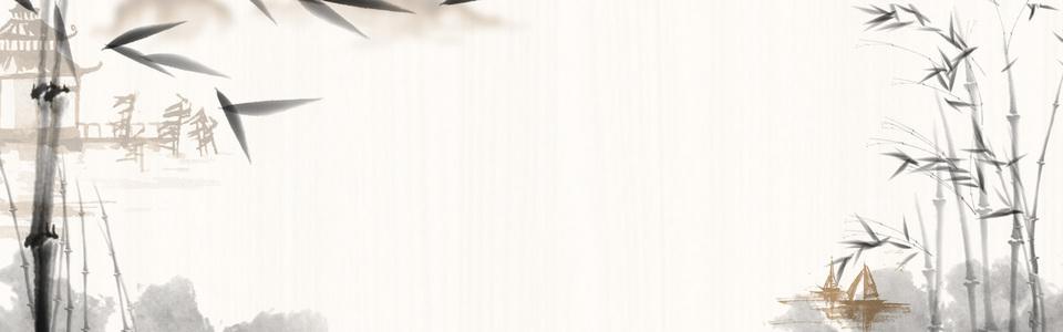 中国风质感水墨意境海报banner