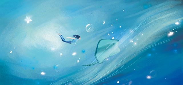 探索海洋深处秘密的少年治愈系动漫