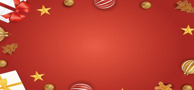 红色圣诞节banner