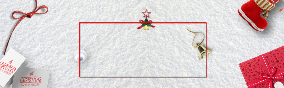 圣诞圣诞节红色文艺清新banner