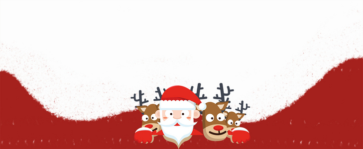 圣诞老人卡通几何白色banner