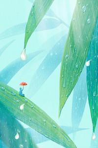 传统二十四节气雨水海报背景