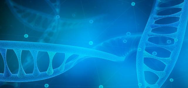 DNA链条科学生命背景图