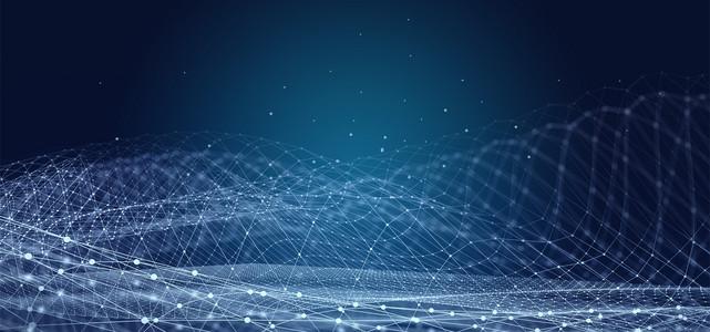 智能科技商务线条背景图