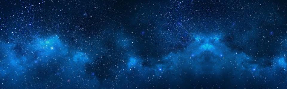 蓝色星空海报背景图