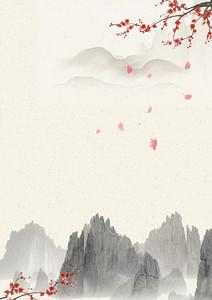 古风海报背景素材梅花背景