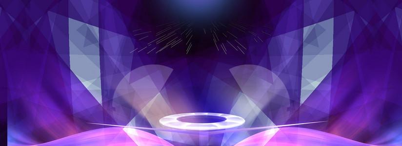紫色渐变电商背景