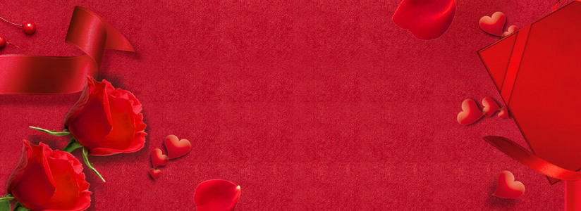 情人节红色浪漫背景