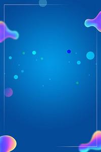 创意科技蓝色几何图形海报背景