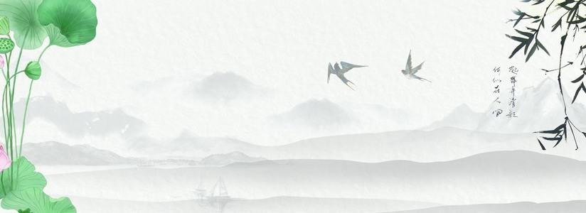 复古中国风海报背景图