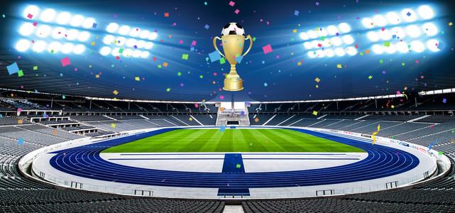 激战世界杯足球banner背景