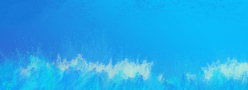 水彩喷溅海洋蓝背景